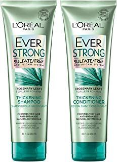 L Oreal Paris Hair Care Everstrong Thickening Sulfate Free Shampoo Conditioner Kit Thickens Strengthens For Thin Fragile Hair 8 5 Fl Oz Each Makeup Diy