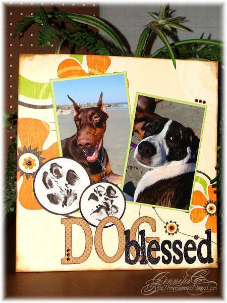 Searchwords: Dog Blessed 12x12 layout