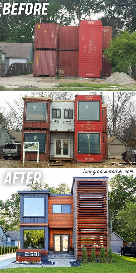Building A Container Home, Container Buildings, Container Architecture, Container Houses, Tiny House Cabin, Tiny House Living, Tiny House Design, Shipping Container Home Designs, Container Design