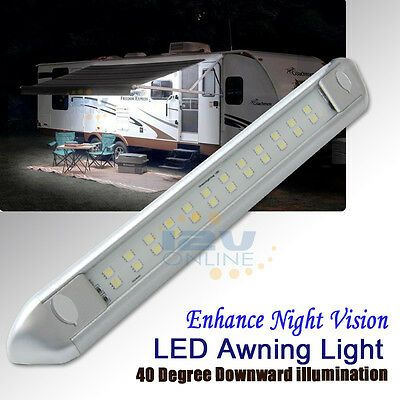 Sponsored Ebay Led Rv Awning Light Travel Trailer Caravan Boat Garage 12v Light Bar Cool W 10 Awning Lights Camper Awning Lights Boat Garage
