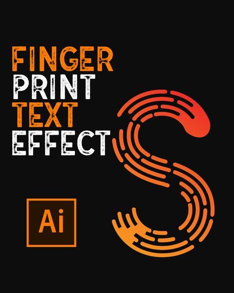 How To Make Finger Print Text In Illustrator