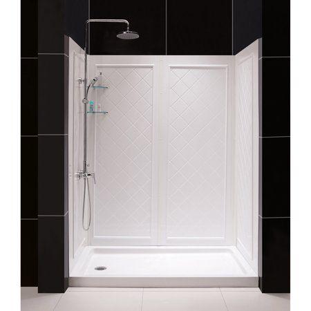 32 In D X 60 In W X 76 3 4 In H Left Drain Acrylic Shower Base