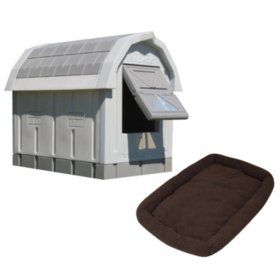 Asl Solutions Grey Insulated Dog Palace Bed Combo Insulated