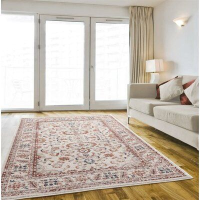 World Menagerie Tupper Oriental Cream Area Rug Rug Size Rectangle