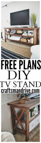 DIY TV Stand  - TV Stands - Ideas of TV Stands #TVStands #DIY Möbel TV-Ständer...  DIY TV Stand  – TV Stands – Ideas of TV Stands #TVStands #DIY Möbel TV-Ständer DIY Rustic TV  #DIY #Ideas #Möbel #stand #stands #Tvständer #TVStands