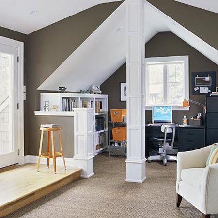 Cool Attic Home Office Design Ideas Attic Renovation Attic House Attic Remodel