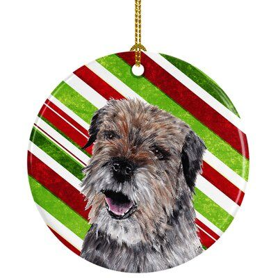 The Holiday Aisle Border Terrier Christmas Ceramic Hanging