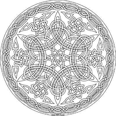 9 mejores imágenes sobre Mandalas celtas en Pinterest | Colorante ...
