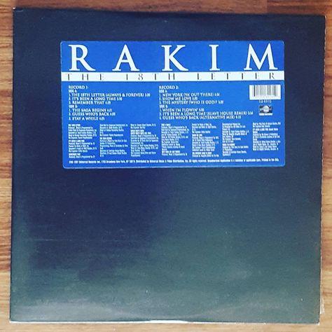 vinyl RAKIM THE 18TH LETTER...
