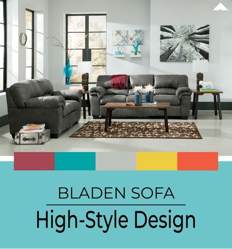 Incredible Bladen Slate Sofa By Ashley Furniture Ashleyfurniture Gmtry Best Dining Table And Chair Ideas Images Gmtryco