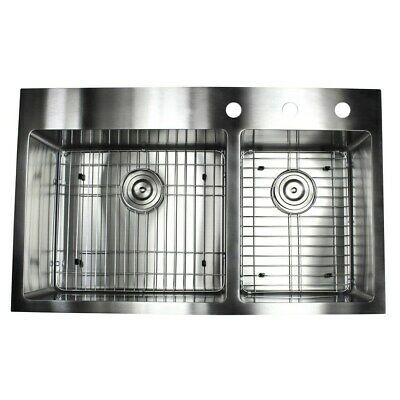 Ad Ebay Url 33 Inch Top Mount Drop In Stainless Steel Double