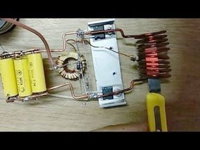 Induction Heater 12v Dc Youtube Electronics Projects Diy Diy Heater Induction Heating