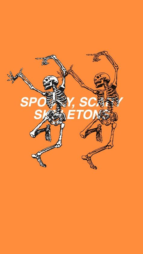 skeleton, orange, and spooky image - Halloween İdeas Cute Fall Wallpaper, October Wallpaper, Halloween Wallpaper Iphone, Holiday Wallpaper, Halloween Backgrounds, Unique Wallpaper, Perfect Wallpaper, Iphone Wallpaper Herbst, Iphone Background Wallpaper