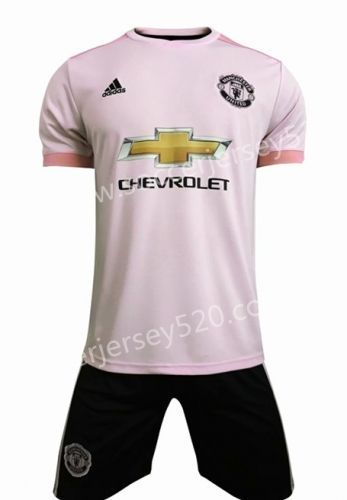 2018 19 Manchester United Away Pink Soccer Uniform Soccer Uniforms Manchester United Cheap Football Shirts