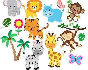 Jungle 1st Birthday Party Invitation Template Jungle Animals One Safari First Birthday Invitation Pdf Template Diy Safari Baby Animals Baby Jungle Animals Zoo Animals