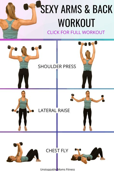 Upper Body Workout For Women, Back Workout Women, Back Fat Workout, Fitness Workout For Women, Home Back Workout, Fitness At Home, Upper Body Home Workout, Arms Workout Gym, Tone Workout For Women