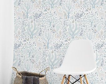 Nature Wallpaper Etsy Uk Tree Removable Wallpaper Removable Wallpaper Nursery Temporary Wallpaper