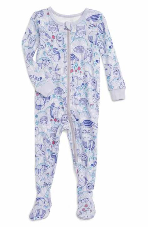 79575822e0c Tea Collection Frith Print Fitted One-Piece Pajamas (Baby Girls ...