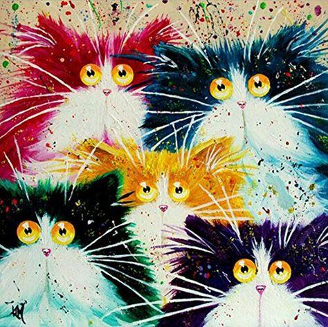 Title Mit Bildern Katzen Kunst Bemalte Kreuze Katze Malen