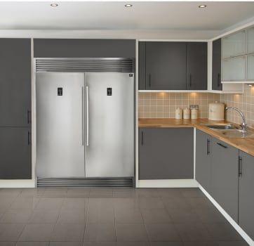 Forno Ffffd193360s Side By Side Column Refrigerator Freezer Set In Stainless Steel Refrigerator Freezer Kitchen Remodel Glass Refrigerator