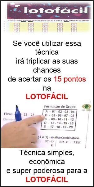 segredo infalivel lotofacil