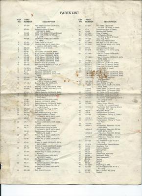 Parts List Montgomery Ward Xer Compressor 4 I Found The Parts List For My Air Compressor It Also Covers Oth Portable Air Compressor Air Compressor Compressor