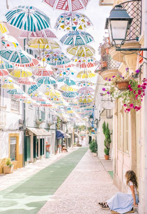Portugal Travel Guide: 5 Day Trips from Aveiro - Grace J. Silla - - A travel guide that features 5 day trips from Aveiro Portugal: Coimbra, Porto, Obidos, Costa Nova, Agueda and a day spent in Aveiro itself. Places In Portugal, Visit Portugal, Sintra Portugal, Places To Travel, Travel Destinations, Places To Go, Travel Tips, Vacation Places, Travel Hacks