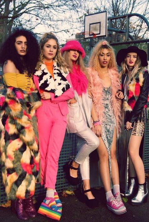 Confetti crowd: pretty little thing fashion party, nineties fashion, bad fashion,