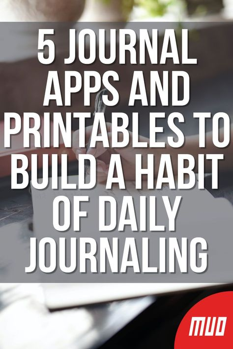 MakeUseOf — Technology, Simplified —  Maintaining a daily journal is one of the best habits for mental well-being and reflection. But it's a hard habit to build, so these apps and websites are tweaking the experience to make it easier to write a journal every day.  #Journal #Journaling #Wellbeing #Apps #Diary