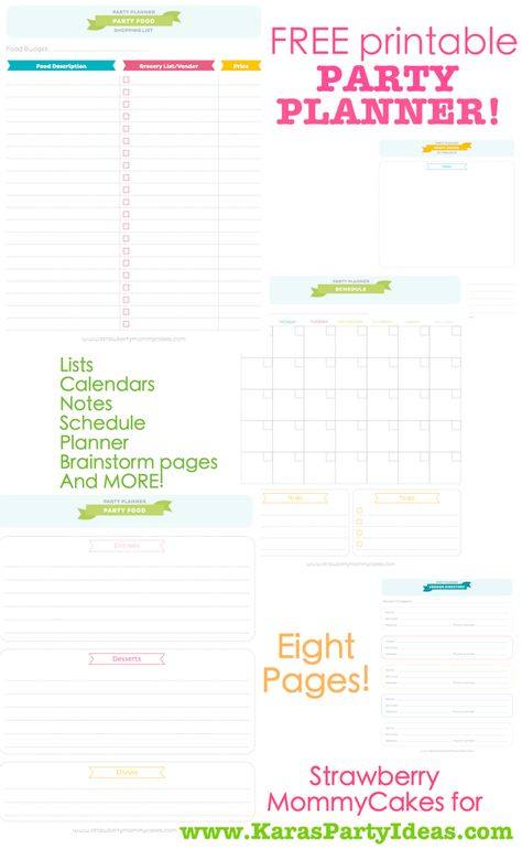 FREE printable PARTY PLANNER ~ This website is AWESOME, it has the most creative party ideas for any theme you are looking for!