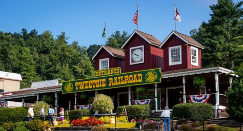 Tweetsie Railroad theme park in Boone, NC. This was the first family theme park in NC (1957).