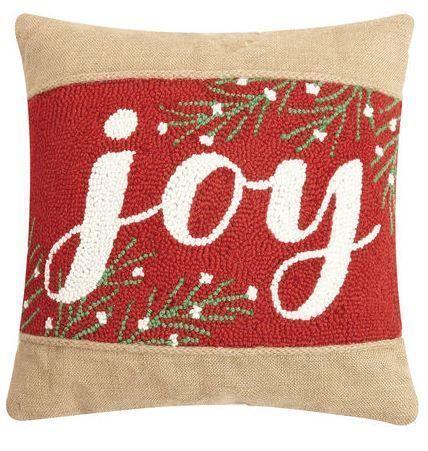 Joy Burlap Pillow Burlap Pillows Wool Throw Pillows Burlap