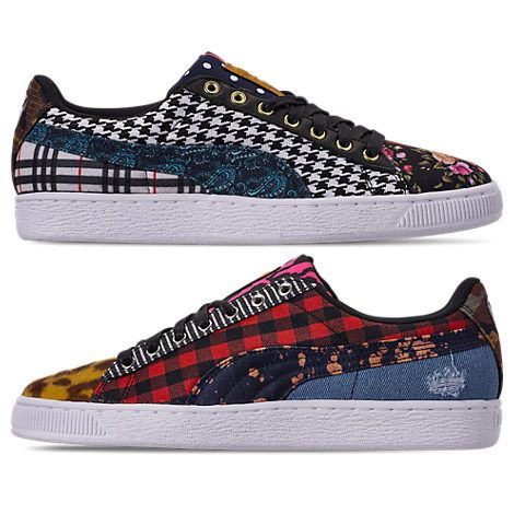 pronto dedo índice Cuota  Men's Court Culture Mixed Pattern Low-top Sneakers In Black (With ...