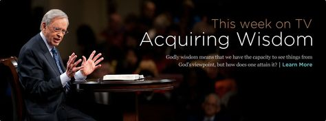 Dr Charles Stanley is an amazing Pastor, He takes it straight from the word of God, I am always blessed every time I view his weekly program.  Check it out for yourself, it always cuts right to the heart.