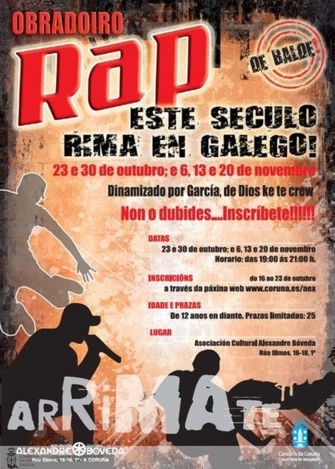 [Concello da Coruña, 2009] http://catalogo-rbgalicia.xunta.gal/cgi-bin/koha/opac-detail.pl?biblionumber=1029918&query_desc=kw%2Cwrdl%3A%20obradoiro%20de%20rap