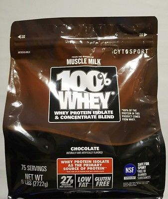 Cytosport Muscle Milk 100 Whey Protein Powder 6 Lbs Bag New Chocolate7 Formulation Activity Bodybuilding Fitness Gym Training Weight Lifting