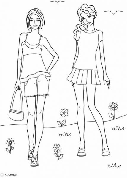 9 Ideas Drawing Fashion Summer  Coloring pages, Drawings