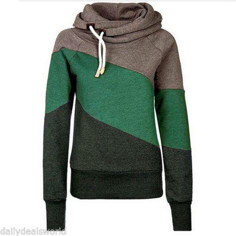 e6f8dbeec63 Women-Hoody-Hoodie-Pocket-Long-Sleeve-Hooded-Sweatshirt-Pullover-Jumper-Coat -Top
