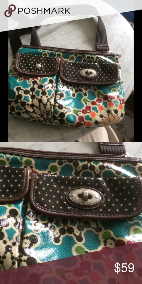 Fossil crossover purse never used Colorful multicolor purse EUC Fossil Bags