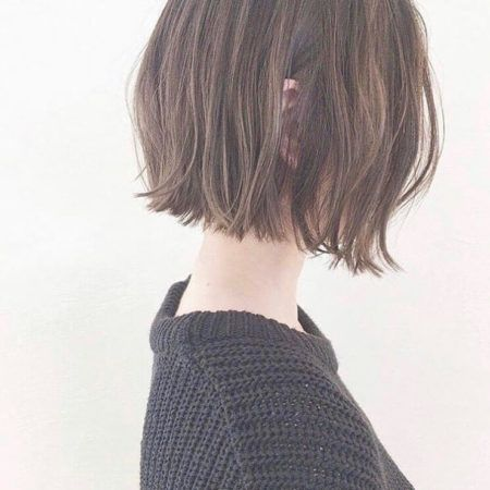 ミニボブのヘアスタイル 髪型30選 前髪あり 前髪 なし パーマ