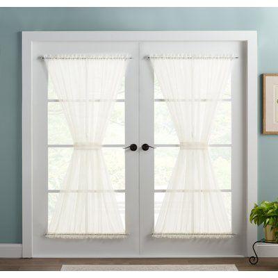 Basics Wayfair Basics Solid Sheer Rod Pocket Single Curtain Panel