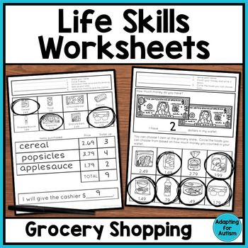 Life Skills Worksheets For Special Education By Adapting For Autism Teachers Pay Teachers Life Skills Life Skills Activities Life Skills Lessons Autism life skills worksheets