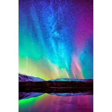 4e334c2ca6 Northern Lights, Rainbow, DIY Diamond Painting Kit | rainbowz ...