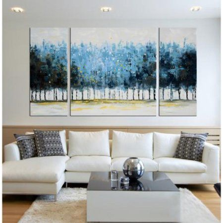 Free Shipping Buy The Lighting Store Hand Painted Mysterious Forest 3 Piece Gallery Wrapped C 3 Piece Canvas Art Artwork For Living Room Canvas Art Painting