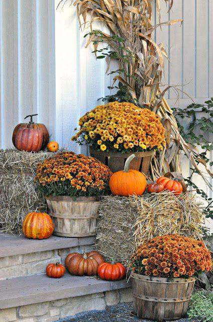 Serendipity Refined Blog Farmhouse Fall Porch Decor Fall Decorations Porch Fall Outdoor Decor Outside Fall Decorations