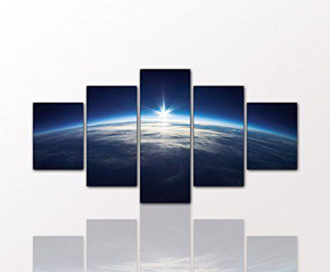 berger designs wandbild als 5 teiliges bild bilder erde weltall weltkarte garten ideen natur world earth wandbilder bilderwand poster leinwand günstig foto