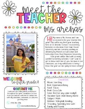 Meet The Teacher Letter Template Free from i.pinimg.com