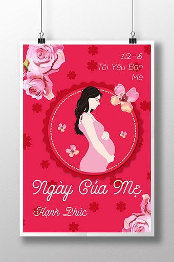 Vietnamese Mother S Day Pregnant Mother Elegant Red Poster Ai Free Download Pikbest Reds Poster Mothers Day Poster Thanksgiving Poster