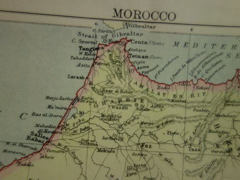 Old map of Morocco 1883 original antique map of by ...  Map Of Morocco on map of africa, map of the us, map of greece, map of senegal, map of the mediterranean, map of tangier, map of atlantic ocean, map of gibraltar, map of fez, map of world, map of romania, map of marrakech, map of nicaragua, map of austria, map of mali, map of algeria, map of honduras, map of saint martin, map of western sahara, map of mongolia,