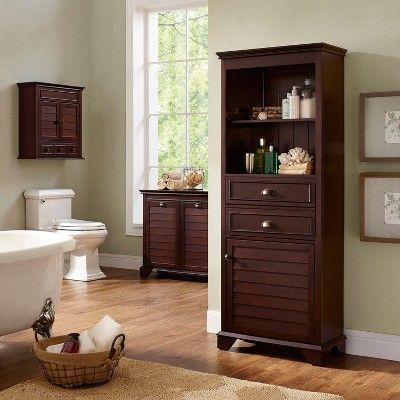 Lydia Linen Hamper In Espresso Target Bathroom Storage Bath Cabinets Bathroom Storage Cabinet